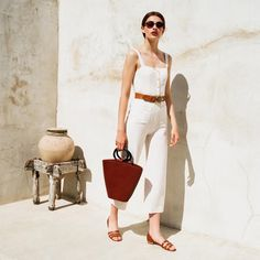 """⠀⠀⠀⠀⠀⠀⠀⠀⠀⠀⠀⠀⠀⠀⠀⠀⠀⠀⠀  S T A U D (@staud.clothing) on Instagram: """"Mongo jumpsuit and Seberg tote"""""""
