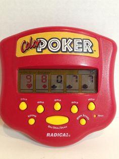 RADICA COLOR POKER 1999 Handheld electronic game WORKS GREAT FREE SHIPPING #Radica
