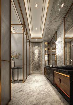 Contemporary Master Bathroom Designs New Modern and Luxury Bathroom Design Ideas 13 Bathroom Lighting Design, Bathroom Design Luxury, Luxury Interior Design, Luxury Bathrooms, Interior Ideas, Luxury Decor, Modern Luxury Bathroom, Interior Modern, Minimalist Interior