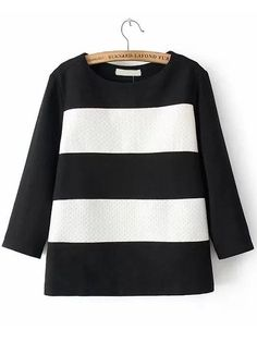Color-block Striped Jacquard Sweatshirt 17.00