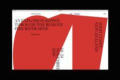 """다음 @Behance 프로젝트 확인: """"Pike River website"""" https://www.behance.net/gallery/51660079/Pike-River-website"""