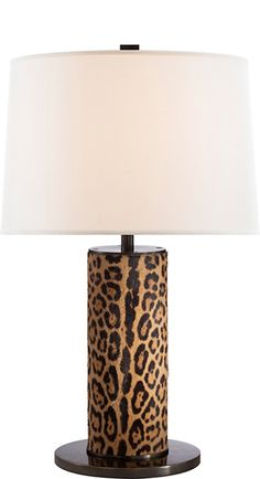 Ralph Lauren Leopard Print Hide Lamp Courtesy of InStyle-Decor.com Beverly Hills Inspiring & supporting Hollywood interior design professionals and fans, sharing beautiful luxe home decor inspirations, trending 1st in Hollywood Repin, Share & Enjoy