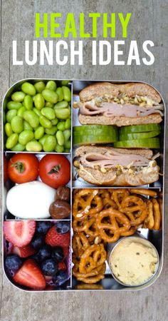 Healthy Lunch Ideas, these are amazing and I love the lunch containers too