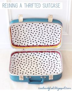 How to Reline a Thrifted Suitcase