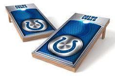 Indianapolis Colts Single Cornhole Board - Medallion
