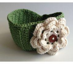 Crochet Flower Headwrap, Earwarmer, Headband - TEEN