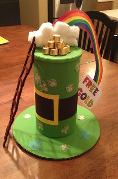 Leprechaun Trap, inspired from: http://luxefinds.com/LuxeLiving/2012/03/05/st-patricks-day-arts-and-craft-projects-for-kids/