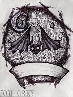 Bat Tattoo Design by TheKingOfMoths.deviantart.com on @deviantART