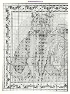 Fall Cross Stitch, Cross Stitch Books, Cross Stitch Animals, Cross Stich Patterns Free, Cross Stitch Charts, Cross Stitch Designs, Cross Stitching, Cross Stitch Embroidery, Halloween Cross Stitches