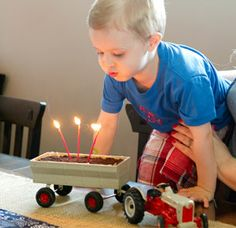 Tractor Party: Dane's Tractor Dirt Cake
