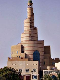 Inspired by the Lajin Minaret of Ibn Tulun Mosque in Cairo - Qatar Mosque in El Doha