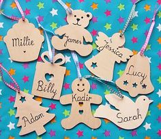 personalised wooden tag by dream scene children's gifts | notonthehighstreet.com