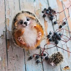 Cute Needle felting wool animals cute hedgehog pet (Via @afonitoys)