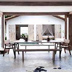 Travel inspiration @ brazil + wooden tables and chair creation | ecoluxe.com.au