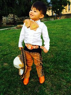 My son is the most handsome Charro!!!! Mexican charro,  boots and sombrero vintage