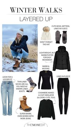 Capsule Outfits, Mode Outfits, Cold Weather Fashion, Cold Weather Style, Layering Outfits, Cold Weather Outfits Casual, Winter Walk, Winter Hiking, December Outfits