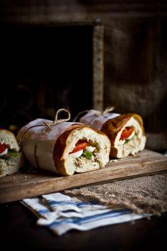 Pan Bagnat (Tuna Nicoise Sandwich)  would be great for lunch.  add green beans like tuna nicoise salad?