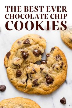 Bakery Style Chocolate Chip Cookie Recipe, Chocolate Chip Recipes, Chocolate Chip Cookies, Chocolate Desserts, Best Cookie Recipes, Baking Recipes, Dessert Recipes, Breakfast Recipes, Delicious Desserts