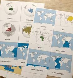 Les continents - Les activités de maman Montessori Education, Montessori Activities, Kids Education, Activities For Kids, Free Preschool, Preschool Kindergarten, Preschool Worksheets, Alternative Education, Les Continents