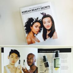 We just received K-Beauty Bible, 'Korean Beauty Secrets by Kerry Thompson&Coco Park' These two guys are holding familiar products