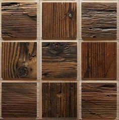 Антикварные деревянные квадратные стеновые панели