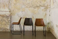 BePureHome - Rough stoel. Leren stoel, leather chair, Ledersessel, fauteuil en cuir.
