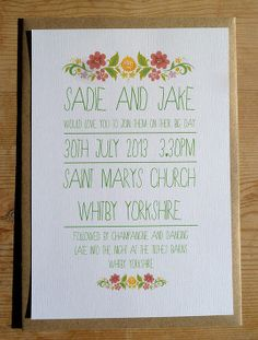 Wedding invitations- from Lucy says I do