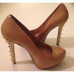 Betsey Johnson Stacked Toe Studded Heels - Size 7