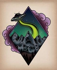 Geometric alien traditional tattoo art - The Best Geometric Space Tattoos - Planet Tattos Ideas Graffiti Art, Graffiti Drawing, Graffiti Tagging, Alien Tattoo, Arte Alien, Alien Art, Doodle Drawing, Doodle Art, Traditional Tattoo Art