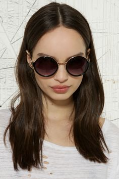 833be6f3b6 £18 Pyramid Metal Arm Round Sunglasses at Urban Outfitters Round Sunglasses