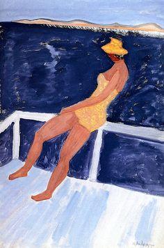 Sunbather on Sun Deck Milton Avery - 1960