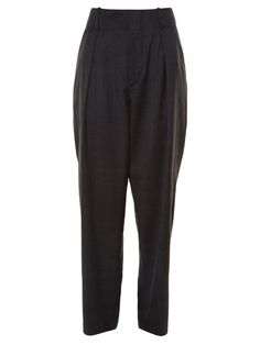 ETOILE ISABEL MARANT NED CHECKED STRAIGHT-LEG TROUSERS. #etoileisabelmarant #cloth #trousers