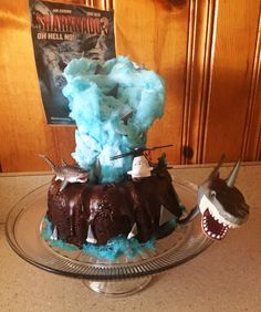 Sharknado 3 cake i made! Alien Cupcakes, Shark Party, Fondant Toppers, Fondant Flowers, Birthday Parties, Birthday Ideas, Party Entertainment, Party Cakes, Fun Desserts