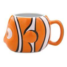 Nemo from Finding Nemo mug. Can Purchase at the disney store Disney Coffee Mugs, Disney Mugs, Best Coffee Mugs, I Love Coffee, Disney Pixar, Mickey Mouse House, Ceramic Coffee Cups, Coffe Cups, Disney Kitchen