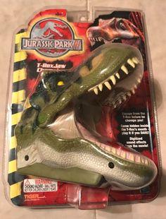 2001 Hasbro Tiger Electronics Jurassic Park III T-Rex Jaw Chomping Action Game #Hasbro