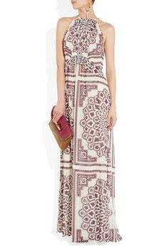 Derek LamPrinted silk-georgette halterneck gown