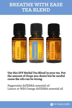 doTERRA Breathe With Ease - Tea Blend Recipe