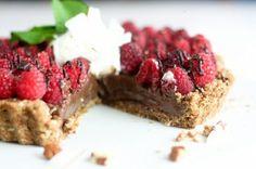 Healthy Chocolate Raspberry Pie