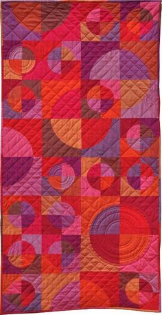 Circle & Crescents by juhu   Quilting Pattern - Looking for a quilting pattern for your next project? Look no further than Circle & Crescents from juhu! - via @Craftsy #quilting