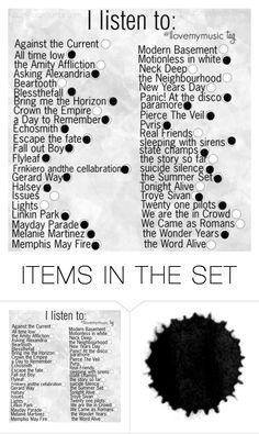 """More Bands"" by i-love-5sosand1d ❤ liked on Polyvore featuring art"
