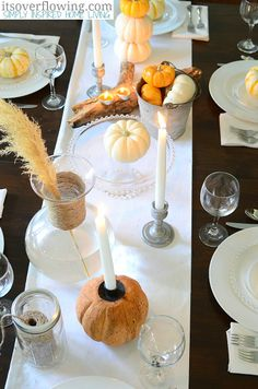 Vintage Chic Casual Dining, Fall Tablescapes