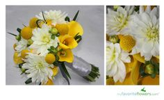 bridal bouquet with billy balls and dahlias | Share