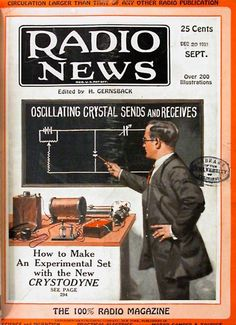 How to Make An Experimental Set with the New CRYSTODYNE | Radio News magazine cover, September issue, 1924
