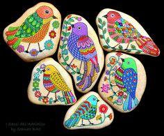 Birds :) #paintedstones