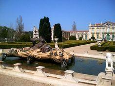 Fountain in garden at Queluz Palace Lisbon: Queluz Palace: http://www.europealacarte.co.uk/blog/2012/04/06/queluz-palace/