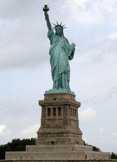 The Statue of Liberty (Liberty Enlightening the World; French: La Liberté éclairant le monde) on Liberty Island, NY, NY.
