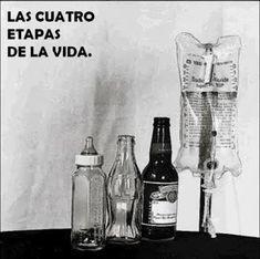etapas de la vida... resumida en botellas