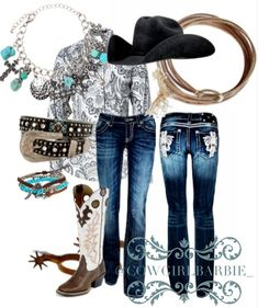 Cowgirl style...horse show & rodeo.