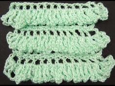 Crochet: Punto con Vuelos. Lineal - YouTube