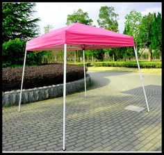 Pop Up Canopy Shelter Outdoor Tent 8x8 Patio Backyard Shade Pink Square Steel  US $119.27#PopUpCanopyShelter